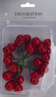 Декоративные ягоды Christmas Decoration 2 см (CAA661030)