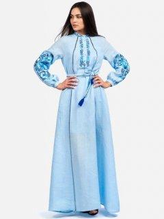 Платье-вышиванка Edelvika 199-19/00 L Голубое (2100000435883)