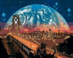 Картина по номерам Bookopt Космический пейзаж 50х40 см (bk_1130) (2252523133019)