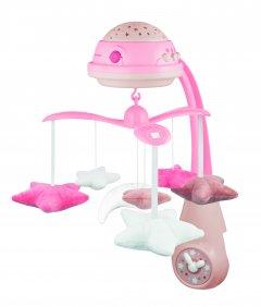 Карусель музыкальная Canpol Babies электронная с проектором Розовая (75/100_pin)