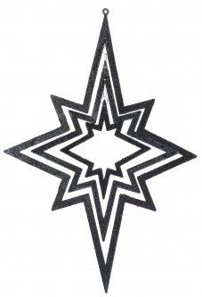 Елочная игрушка Christmas Decoration Подвесная декорация Звезда 34х48 см Темно-синяя (AWR105250_dark_blue)