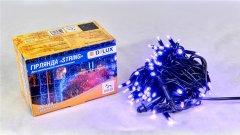 Светодиодная гирлянда DELUX STRING 100LED 10 м Фиолетовый/Черный IP44 (90015260)