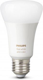 Умная лампа Philips Hue Single Bulb E27, 9W(60Вт), 2000K-6500K, Color, Bluetooth, димируемая (929002216824)