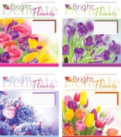 Набор тетрадей ученических Мрії збуваються Цветы B5 клетка 12 листов на скобе картонная обложка 4 дизайна 20 шт (ТА5.1211.3181к)