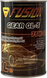 Трансмиссионное масло Fusion GEAR GL-5 75W-80 1 л metal (FU1039)