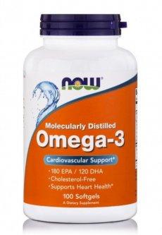 Жирные кислоты Now Foods Омега-3 1000 мг 100 желатиновых капсул (733739016508)