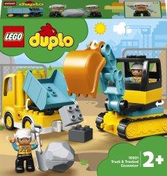 Конструктор LEGO DUPLO Town Грузовик и гусеничный экскаватор 20 деталей (10931)