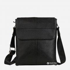 Мужская кожаная сумка-мессенджер TIDING BAG A25-064A Черная