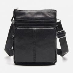 Мужская кожаная сумка Vintage 14607 Черная