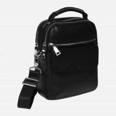 Мужская кожаная сумка Palmera K106268-black Черная (ROZ6400008828)