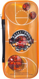 Пенал каркасный Le-WiSge 3D Баскетбол Оранжевый (Я45506_VR23135)
