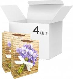 Набор пакетов подарочных Angel Gifts 310х400х120 мм Фиалка 4 шт (Я46033_AG91391_4)