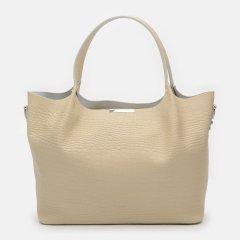 Женская сумка кожаная Palmera 10l943rep Бежевая (ROZ6400034699)