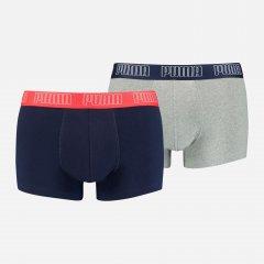 Трусы-шорты Puma Basic Trunk 2P 93501506 XL 2 шт Blue Grey melange (8720245037907)