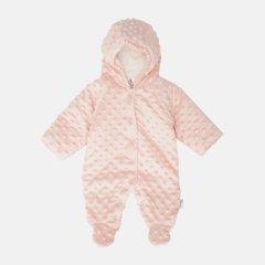 Демисезонный велюровый комбинезон Garden Baby Плюшка 12087-66/32 68 см Персик (4821208766354)