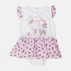 Боди-юбка Garden Baby 19802-03/35 86 см Белый/Розы (4821980235628)