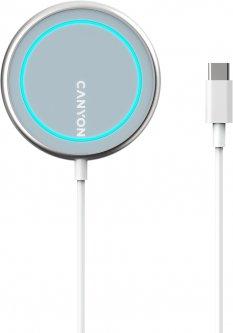 Беспроводное зарядное устройство Canyon WS-100 для iPhone Silver (CNS-WCS100)