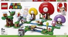 Конструктор LEGO Super Mario Погоня за сокровищами Тоада дополнительный набор 464 деталей (71368)