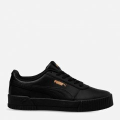 Кеды Puma Carina Leather W 37032508 40.5 (7) 26 см Black-Black-Team Gold (4060979935389)