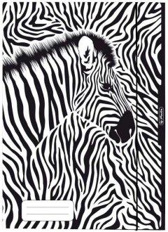 Папка картонная на резинке Herlitz Animal Print Zebra А4 (50036615Z)