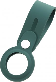 Чехол-брелок ArmorStandart Silicone Loop with Button для Apple AirTag Dark Green (ARM59160)