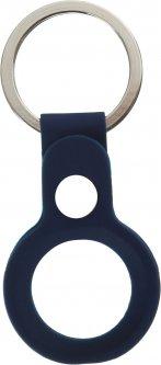 Чехол-брелок ArmorStandart Silicone Ring with Button для Apple AirTag Dark Blue (ARM59153)