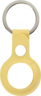 Чехол-брелок ArmorStandart Silicone Ring with Button для Apple AirTag Yellow (ARM59152)
