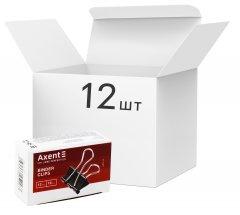 Набор биндеров Axent 19 мм 12 пачек по 12 шт (4401-A) (4250266252170)