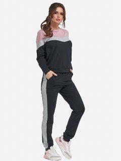 Спортивный костюм ISSA PLUS 11461 XL Черный (issa2000259716910)