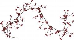 Декоративная ветка Christmas Decoration 120 см (YZB001230)