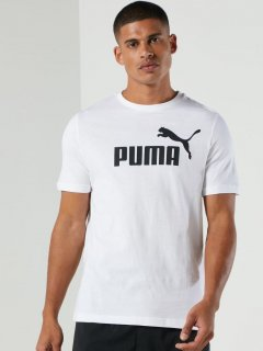 Футболка Puma Ess Logo Tee 58666602 L Puma White (4063697398740)