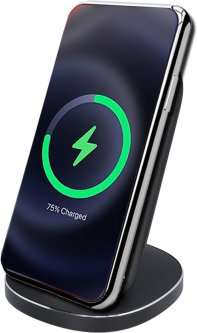 Беспроводное зарядное устройство подставка для телефона Ailink Wireless Stand с технологией QI Черное (AI-Stand2bk)