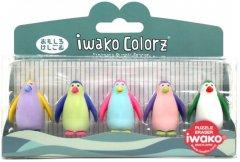 Набор ластиков для карандаша Iwako Пингвинчики 5 шт (ER-GLB009) (4991685001771)
