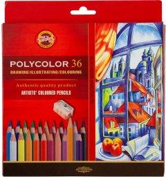 Художественные карандаши Koh-i-Noor Polycolor 36 цветов картонная упаковка (3835)