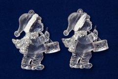 Набор елочных игрушек mag-2000 мальчик 2 шт 8 см Прозрачный (5102682200671)