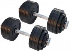Гантели наборные обрезиненные Rn-Sport 2 шт по 20 кг (RN_OD2х20)
