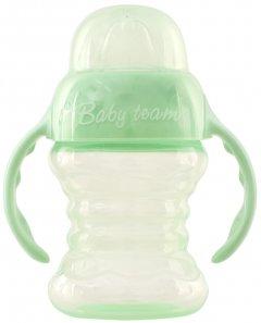 Поильник-непроливайка Baby Team со спаутом и ручками 180 мл (5022_мятный)