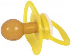 Пустышка латексная классическая Baby team (3222_желтый)