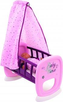 Кровать Smoby Toys Baby Nurse Прованс с балдахином (220338) (3032162203385)