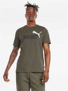 Футболка Puma ESS+ 2 Col Logo Tee 58675944 M Grape Leaf (4064533090545)