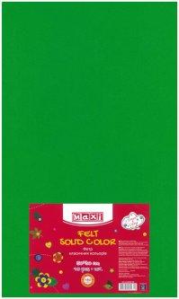 Набор фетра Maxi 50 х 30 см Листового Зеленого 10 шт (MX61623-04)