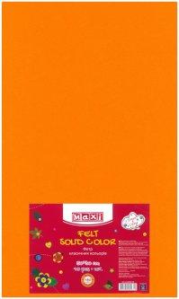 Набор фетра Maxi 50 х 30 см Листового Светло-оранжевого 10 шт (MX61623-39)