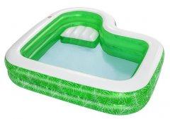 Детский надувной бассейн Bestway Тропический рай с сидением и подстаканником 231 х 231 х 51 см 282 Л