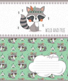 Набор тетрадей ученических 1 Вересня Wild and free А5 12 листов в косую линейку 25 шт (765652)