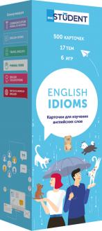 Карточки для изучения английского языка English Student English Idioms (9786177702428)
