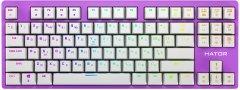 Клавиатура проводная HATOR Rockfall EVO TKL Kailh Optical Lilac (HTK-633)