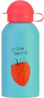 Детская бутылка для воды Cool For School Strawberry 500 мл Голубая (CF61303)