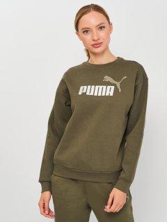 Свитшот Puma ESS+ Metallic Logo Crew 58689344 S Grape Leaf-Silver (4063699359015)
