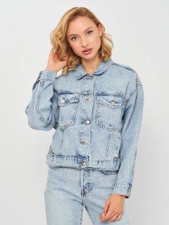 Джинсовая куртка Mango 17040787-TM S Синяя (8445306928160)