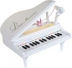 Детское пианино-синтезатор Baoli с микрофоном 31 клавиша Белое (BAO-1504C-W) (2722244121553)